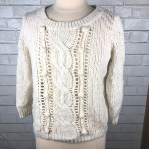 Old Navy Cream Knitted Sweater